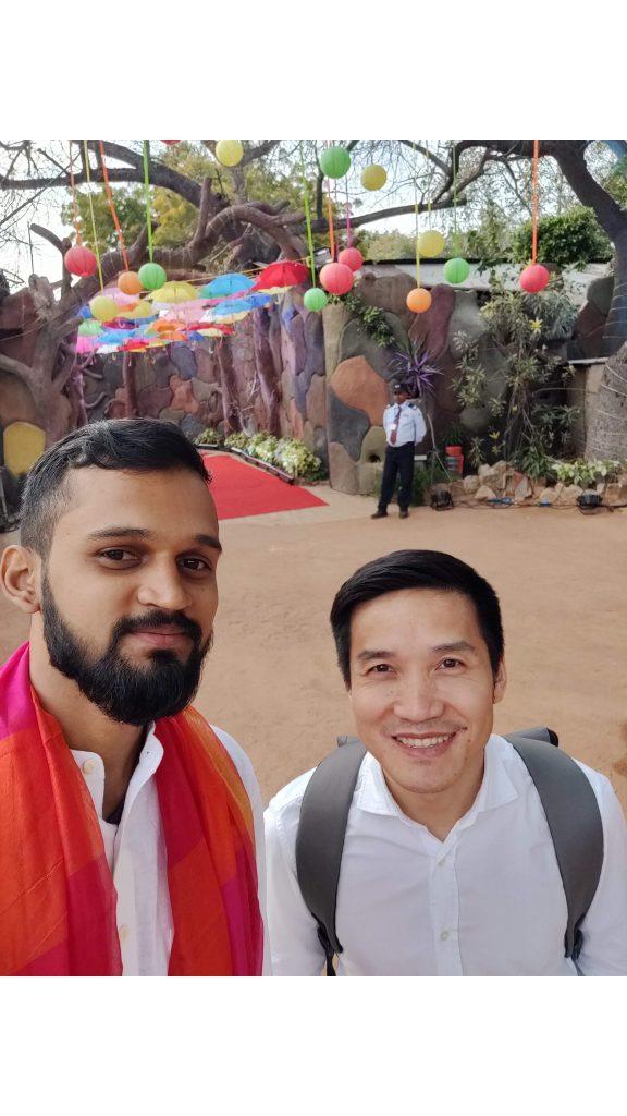 Pete Lau, Holi celebration, New Delhi