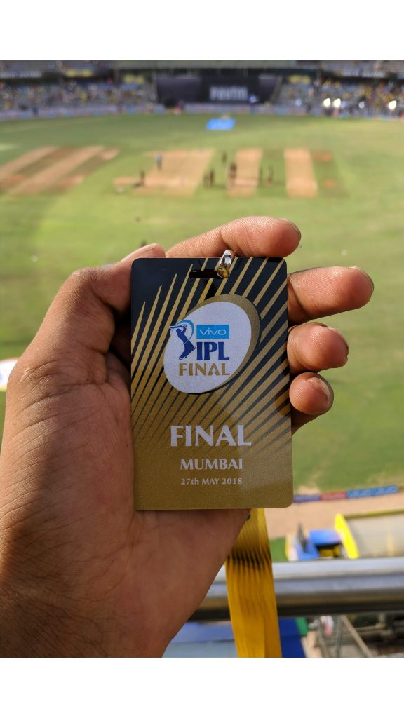 The special IPL Final ticket